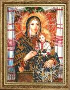 Набор для вышивки бисером Богородица с Иисусом (по картине Охапкина)