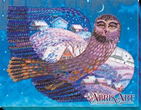 Набор для вышивки бисером на холсте На крыльях ночи