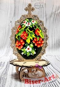 Писанка для вышивки бисером по дереву Калина