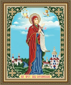 Схема вышивки бисером на авторской канве Боголюбская Образ Пресвятой Богородицы Art Solo VIA4270 - 45.00грн.
