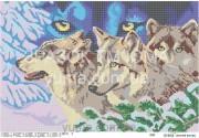 Схема вышивки бисером на атласе Волчий взгляд