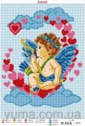 Схема вышивки бисером на атласе Ангел