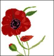 Схема вышивки бисером на габардине Девочка-цветок