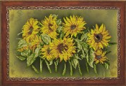 Схема вышивки бисером на ткани Солнечный фокстрот