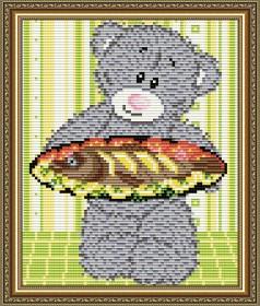 Набор для выкладки алмазной мозаикой Мишка с рыбой  Art Solo АТ5534 - 248.00грн.