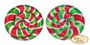 Схема для вышивки бисером на ВЕЛЮРЕ Леденец красно-зеленый