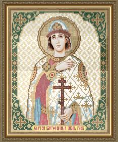 Схема вышивки бисером на габардине Святой Благоверный князь Глеб Art Solo VIA4143 - 45.00грн.