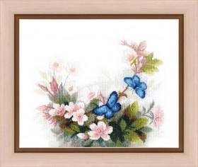 Набор для вышивания крестом Тайна утренней росы, , 195.00грн., ВТ-157, Cristal Art, Цветы