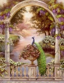 Набор для выкладки алмазной мозаикой Павлины в арке