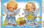 Схема для вышивки бисером на габардине Ангелочки