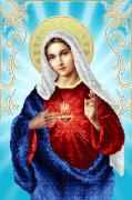 Схема для вышивки бисером на атласе Непорочное сердце Марии