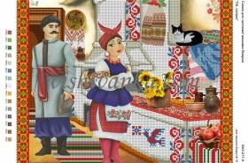 Схема для вышивки бисером на атласе Ой, сусідко Вишиванка А3-217 атлас - 45.00грн.
