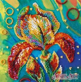 Набор-мини для вышивки бисером на натуральном художественном холсте Разноцветный ирис Абрис Арт AM-203 - 103.00грн.