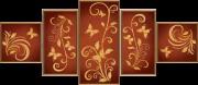 Схема для вышивки бисером на атласе Цветочный шлейф (5 частей)