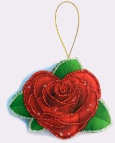 Набор для изготовления игрушки из фетра для вышивки бисером Роза Баттерфляй (Butterfly) F039 - 57.00грн.