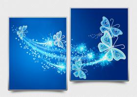 Схема для вышивки бисером на атласе Ажурные бабочки (синий) Диптих, , 182.00грн., АРЗ-012, А-строчка, Картины из нескольких частей