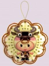 Набор для изготовления игрушки из фетра для вышивки бисером Телец Баттерфляй (Butterfly) F122