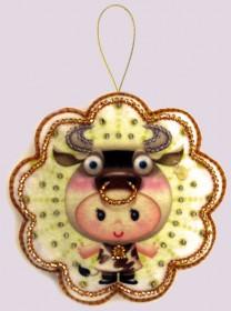 Набор для изготовления игрушки из фетра для вышивки бисером Телец, , 48.00грн., F122, Баттерфляй (Butterfly), Гороскоп