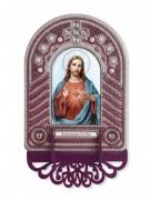 Набор для вышивки иконы с рамкой-киотом Святейшее Серде Иисуса