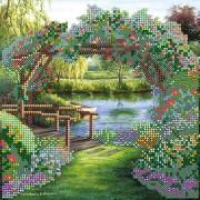 Схема для вышивки бисером на холсте Цветочная арка