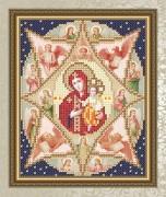 Схема для вышивки бисером на габардине Неопалимая Купина