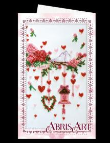 Набор для вышивки бисером Открытка-конверт Свадебная мишура Абрис Арт АОМ-016 - 89.00грн.