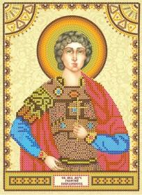 Схема для вышивки бисером на холсте Святой Георгий