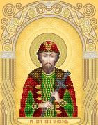 Схема вышивки бисером на атласе Св. благоверный князь Всеволод