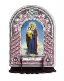 Набор для вышивки иконы с рамкой-киотом Пресвятая Богородица