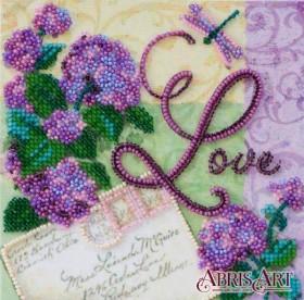 Набор-мини для вышивки бисером на натуральном художественном холсте Люби