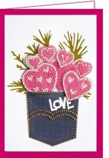 Набор - открытка 3D для вышивки бисером  От чистого сердца Абрис Арт АОО-003