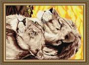 Набор для выкладки алмазной мозаикой Львы
