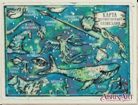 Набор для вышивки бисером на холсте Карта несуществующих созвездий Абрис Арт АВ-686 - 538.00грн.