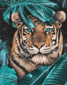Схема вышивки бисером на атласе Тигр в джунглях Tela Artis (Тэла Артис) ТА-491 - 115.00грн.