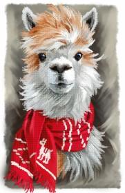 Схема вышивки бисером на габардине Лама в шарфике Tela Artis (Тэла Артис) ТА-497 - 115.00грн.