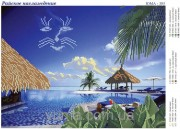 Схема вышивки бисером на атласе Райское наслаждение
