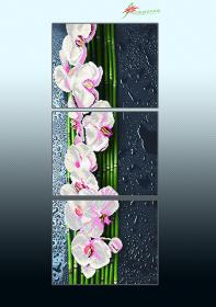Схема для вышивки бисером на атласе Ванильный каскад (триптих), , 225.00грн., АР3-017, А-строчка, Картины из нескольких частей