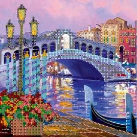 Схема для вышивки бисером на холсте Огни Венеции