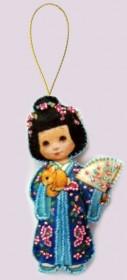 Набор для изготовления куклы из фетра для вышивки бисером Кукла. Япония Баттерфляй (Butterfly) F047 - 54.00грн.
