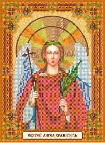 Схема для вышивки бисером на холсте Святой Ангел Хранитель