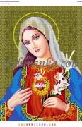 Схема для вышивки бисером на атласе Святе Серце Марії