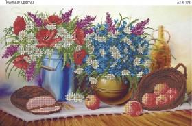 Схема для вышивки бисером на габардине Полевые цветы, , 70.00грн., А3-К-173, Acorns, Цветы