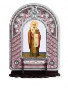 Набор для вышивки иконы с рамкой-киотом Николай Чудотворец