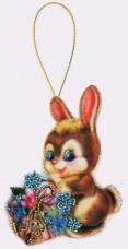 Набор для изготовления игрушки из фетра для вышивки бисером Зайчик Баттерфляй (Butterfly) F019