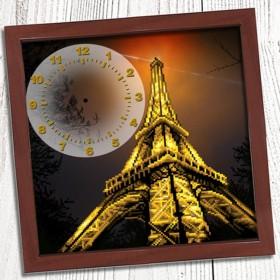 Схема вышивки бисером (нитками) на габардине Годинник Вечірній париж Biser-Art Bis013 - 85.00грн.