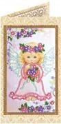 Набор - открытка для вышивки бисером Милый ангелочек