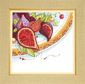 Набор для вышивания крестом Краски Востока. Инжир, , 195.00грн., ВТ-186, Cristal Art, Натюрморты