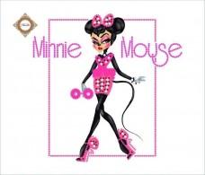 Пошитый клатч для вышивки бисером  Glamour Minnie Миледи КС-011