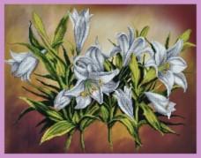 Набор для вышивки бисером Белые лилии Картины бисером Р-232