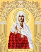 Схема для вышивки бисером на атласе Св. Преподобномученница Евгения